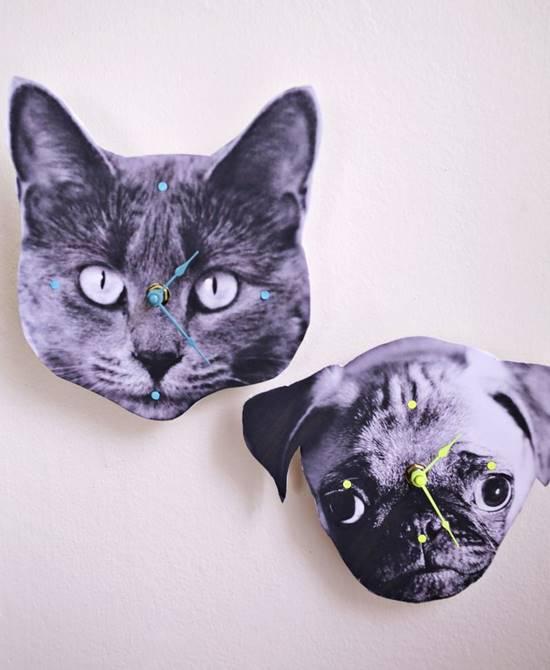 DIY Pet Photo Wall Clock