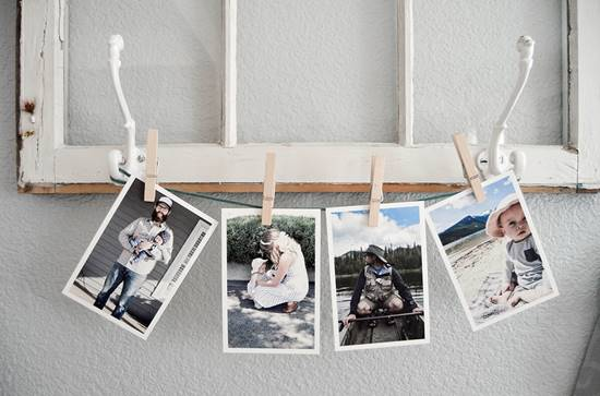 Budget Friendly Clothespin Photo Wall