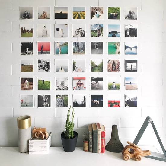 DIY Grid Photo Wall