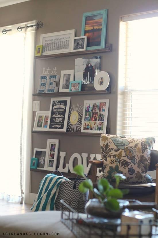 DIY Photo Ledges