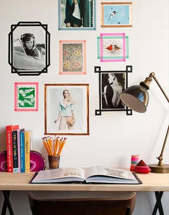 DIY Tape Photo Wall Frame