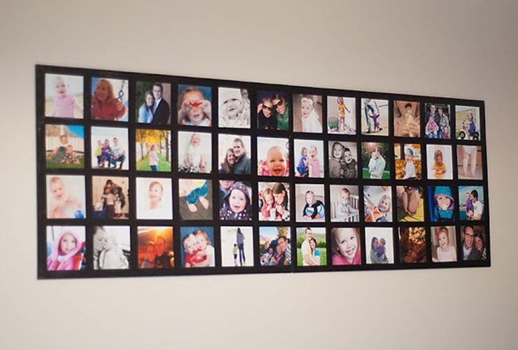 Budget Friendly Foamboard Photo Wall