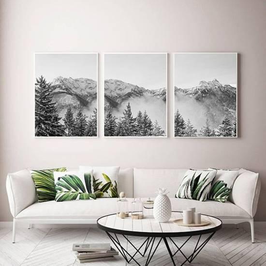 DIY Split Photo Wall Art