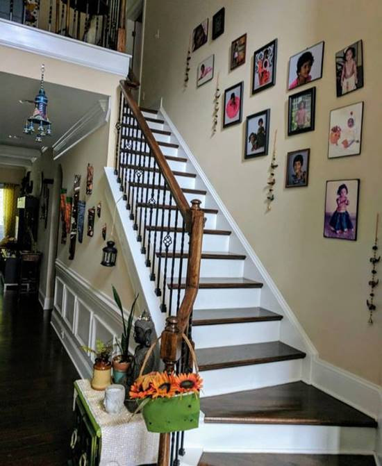 Staircase Photo Wall Idea
