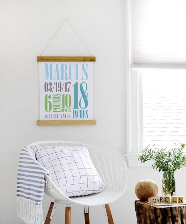 Budget Friendly DIY Poster Hanger