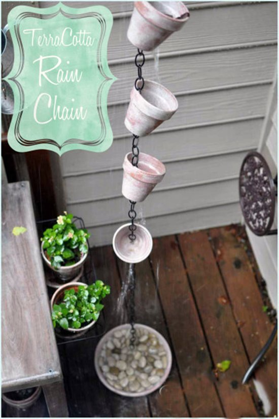 DIY Rain Chain Basin