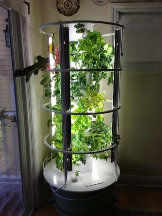 Hooded Tower Garden With Grow Lights