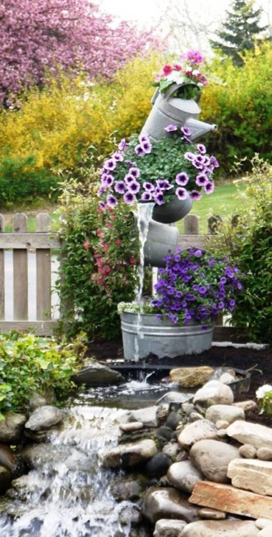 Galvanised Tipsy Flower Tower