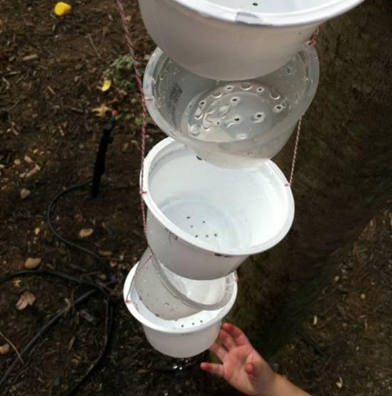 DIY Yogurt Cup Rain Chain