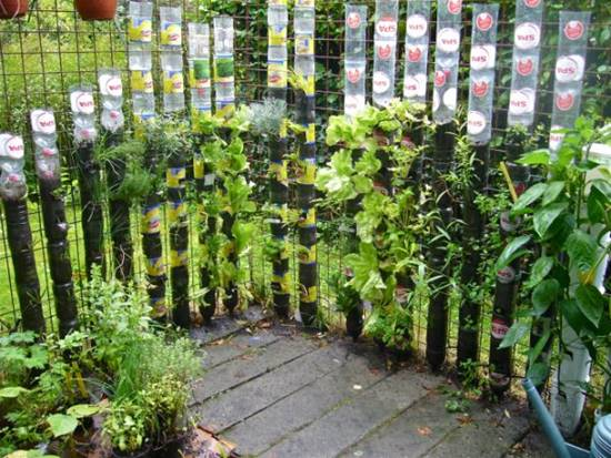 DIY Recycled Bottle Tower Garden