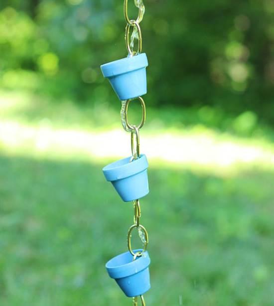 DIY Ombre Rain Chain
