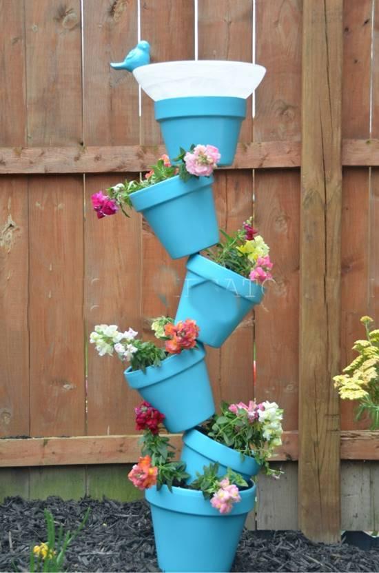 DIY Garden Planter Tower