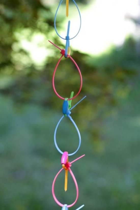 ZIp-tie Rain Chain
