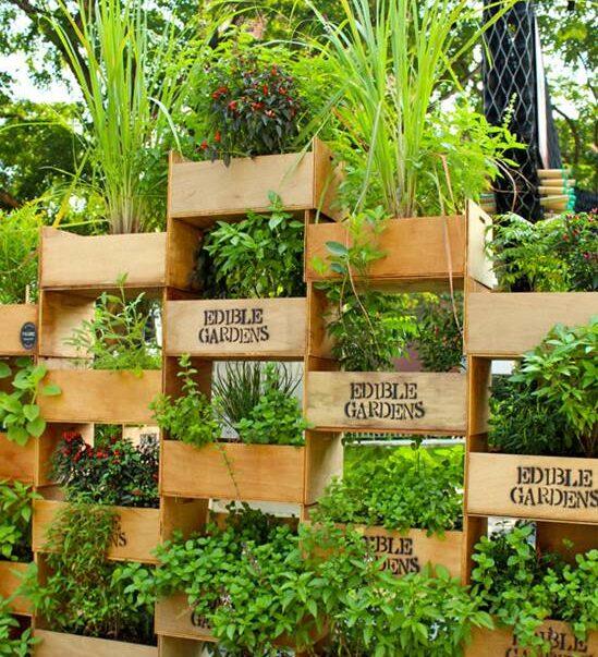 Wood Crates Garden Tower
