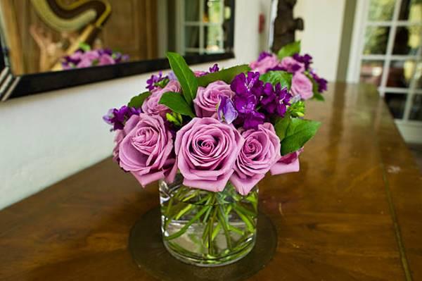 lavender rose cut flower in a vase