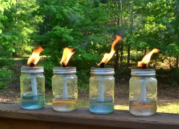 DIY Mason Jar Tiki Torch