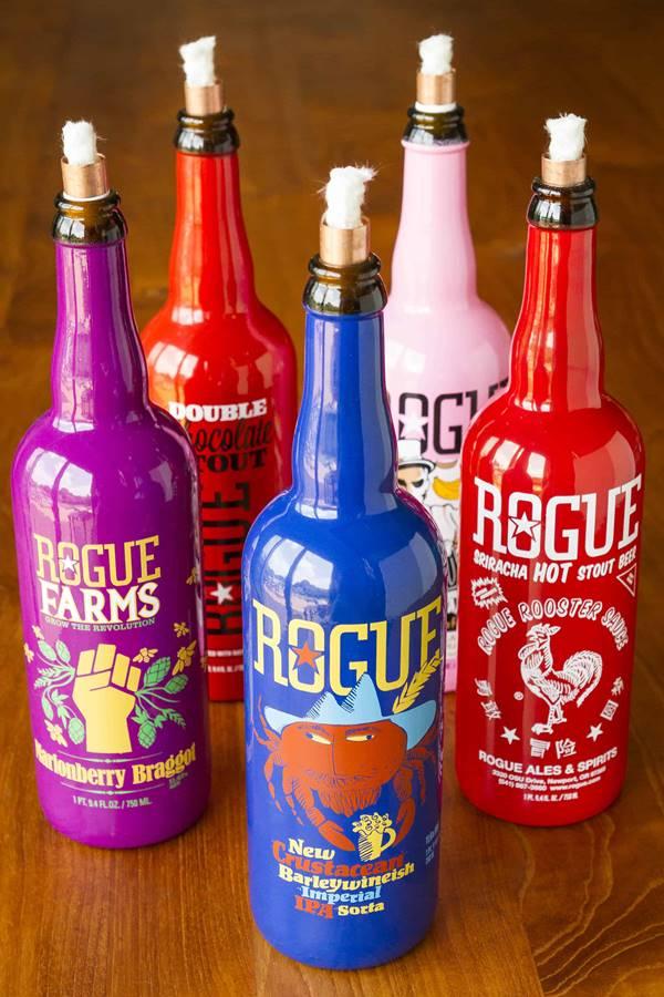 DIY Beer Bottle Tiki Torches