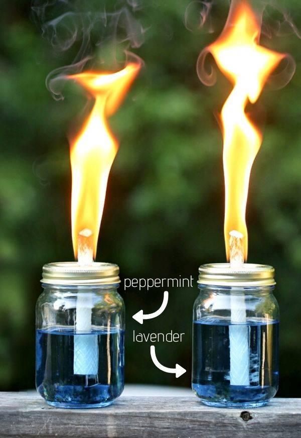 Mason Jar Tiki Torches DIY