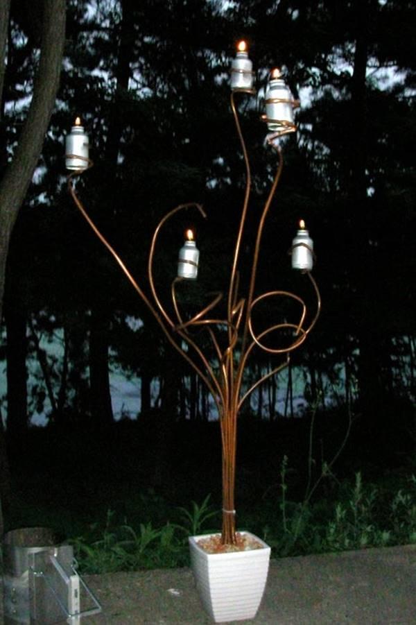 DIY Tree Tiki Torch