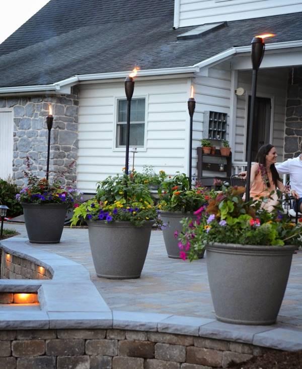 DIY Tiki Torch Planter