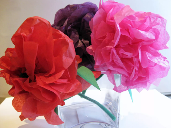 diy colored paper mexican flower